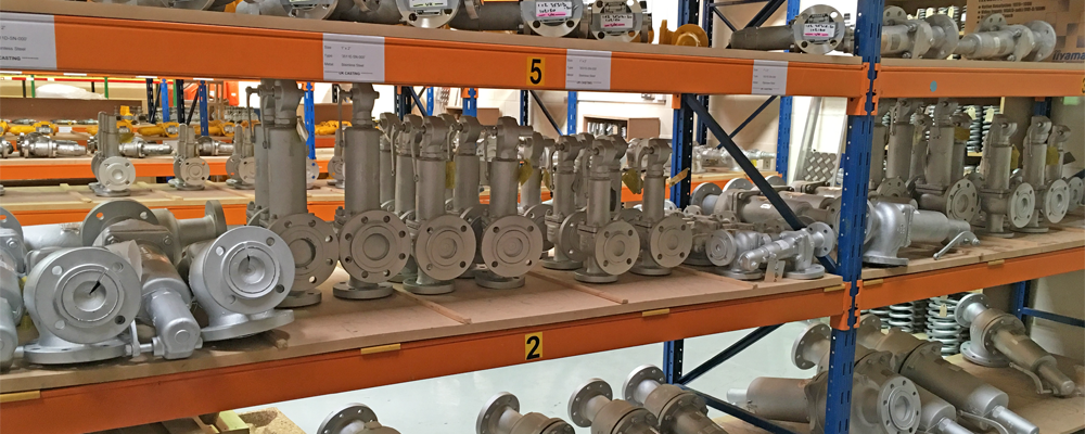 JUST SOME OF OUR 1.5 MILLION POUNDS OF SAFETY & RELIEF VALVES